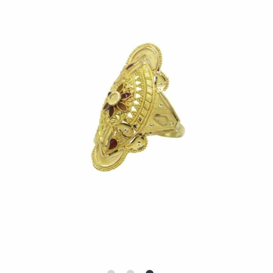 22 k light weight yellow gold ladies ring rj-lrg-008