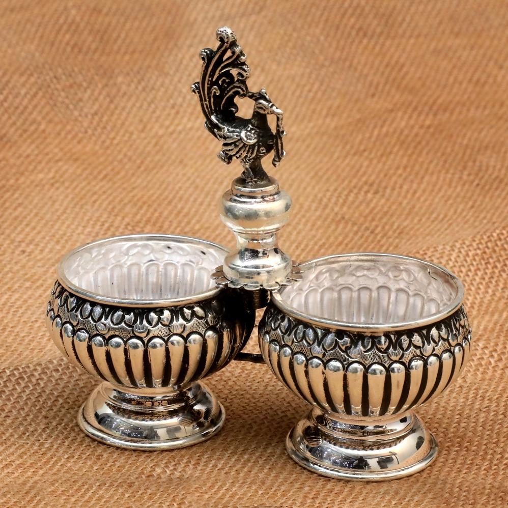999 Silver Stylish Bowl Set Of 2