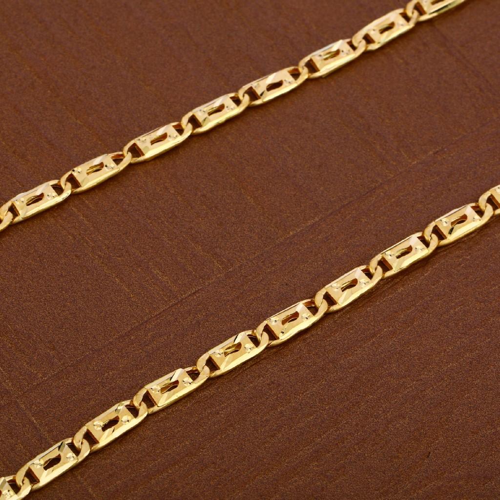Mens Plain Gold Chain-MNC38