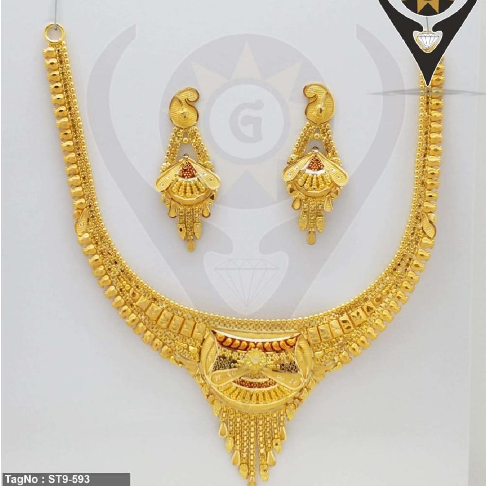 22KT Hallmark Gold Bridal Necklace Set