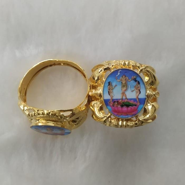 916 Gold Fancy Gent's Fuljogani Maa Photo mina Ring
