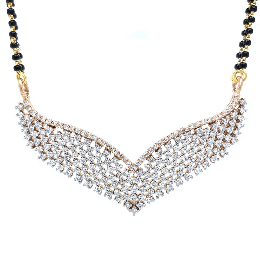 Criss Cross Diamond Tanmaniya in 18k Rose Gold - 9.930 grams - VVS EF - 2.62 carats - 8DHP34