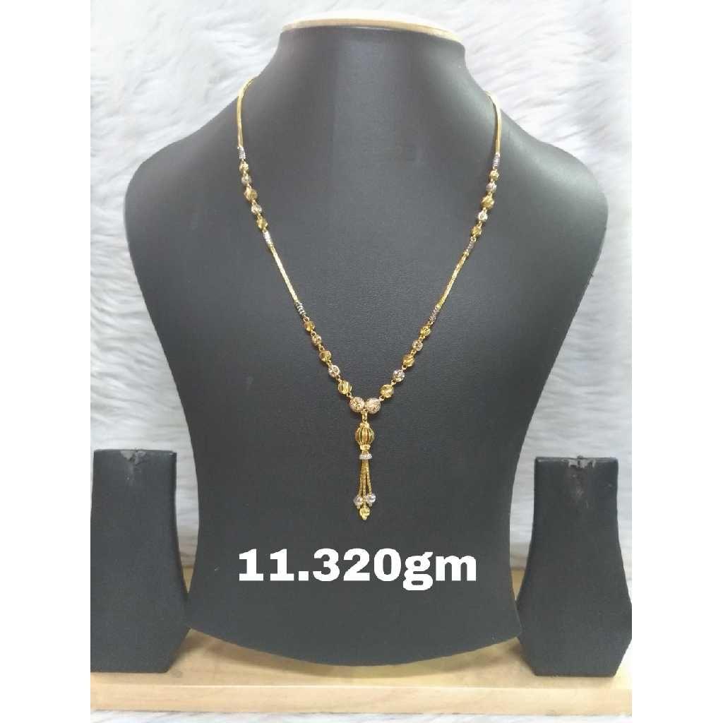 916 Gold CZ Necklace