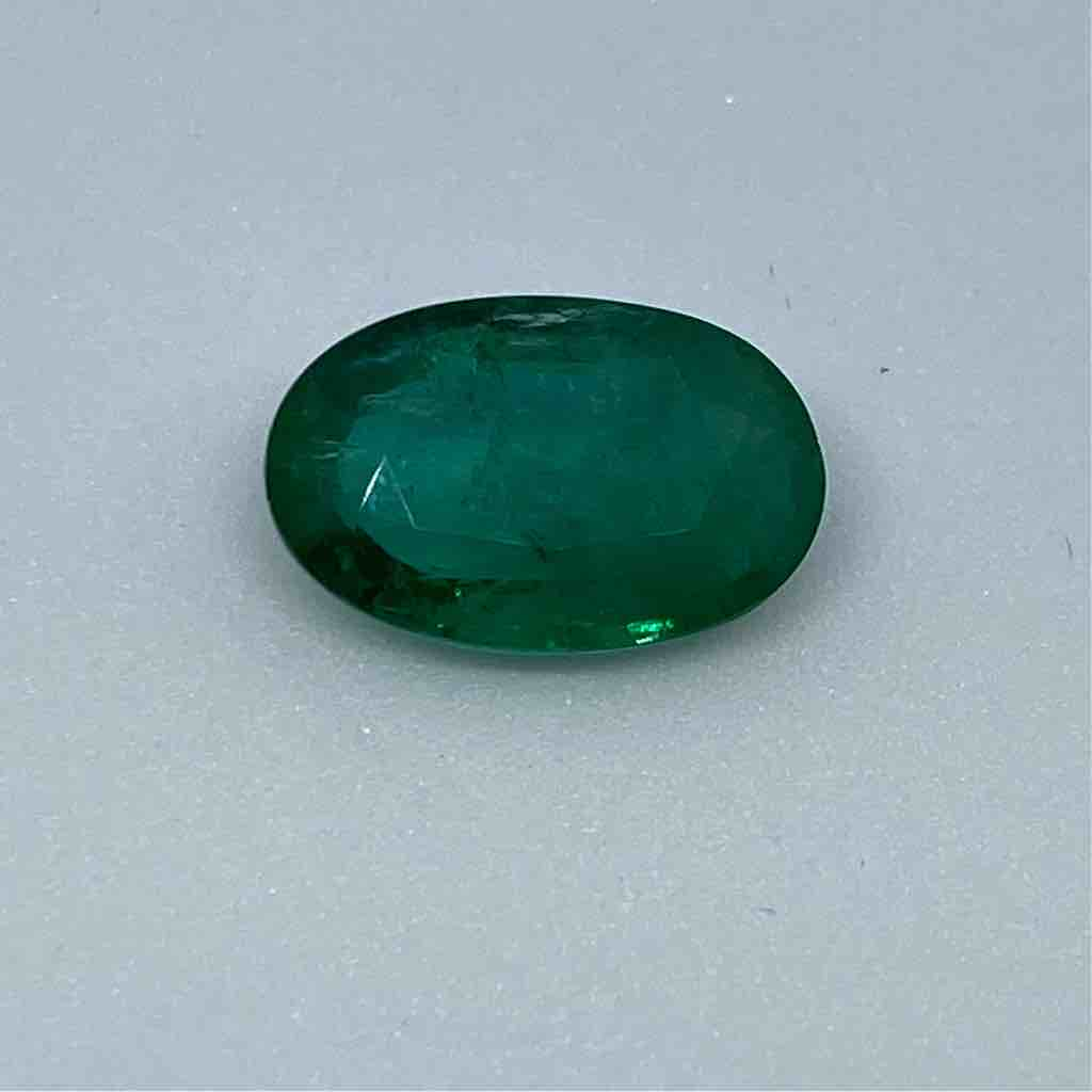 5.88ct oval green emerald-panna