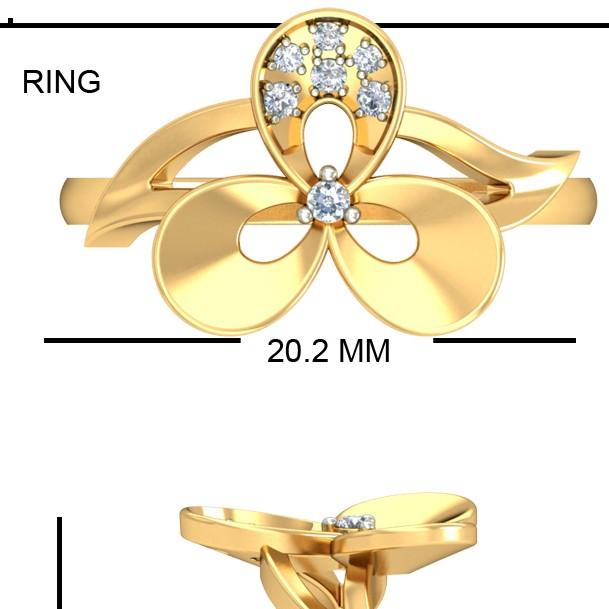 22KT Yellow Gold Figurative Folk Ring For Women