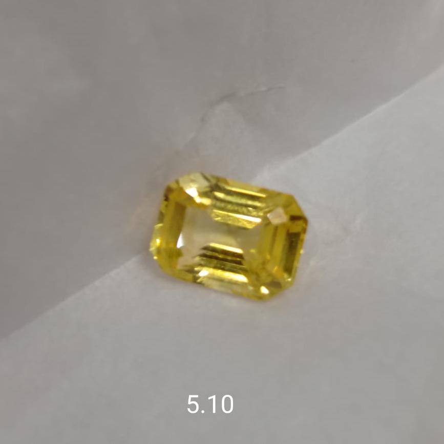 5.10ct Square Yellow Sapphire-Pukhraj SG-Y03