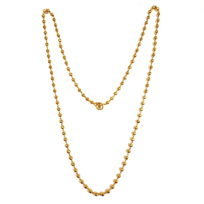 1 Gram Gold Forming Mala Chain MGA - MLE0013