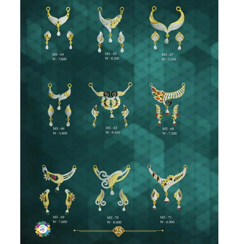 916 GOLD CZ DIAMOND MANGAL SUTRA