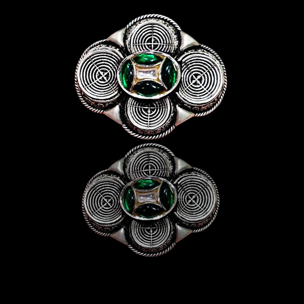 92.5 Padmavati antique silver ring