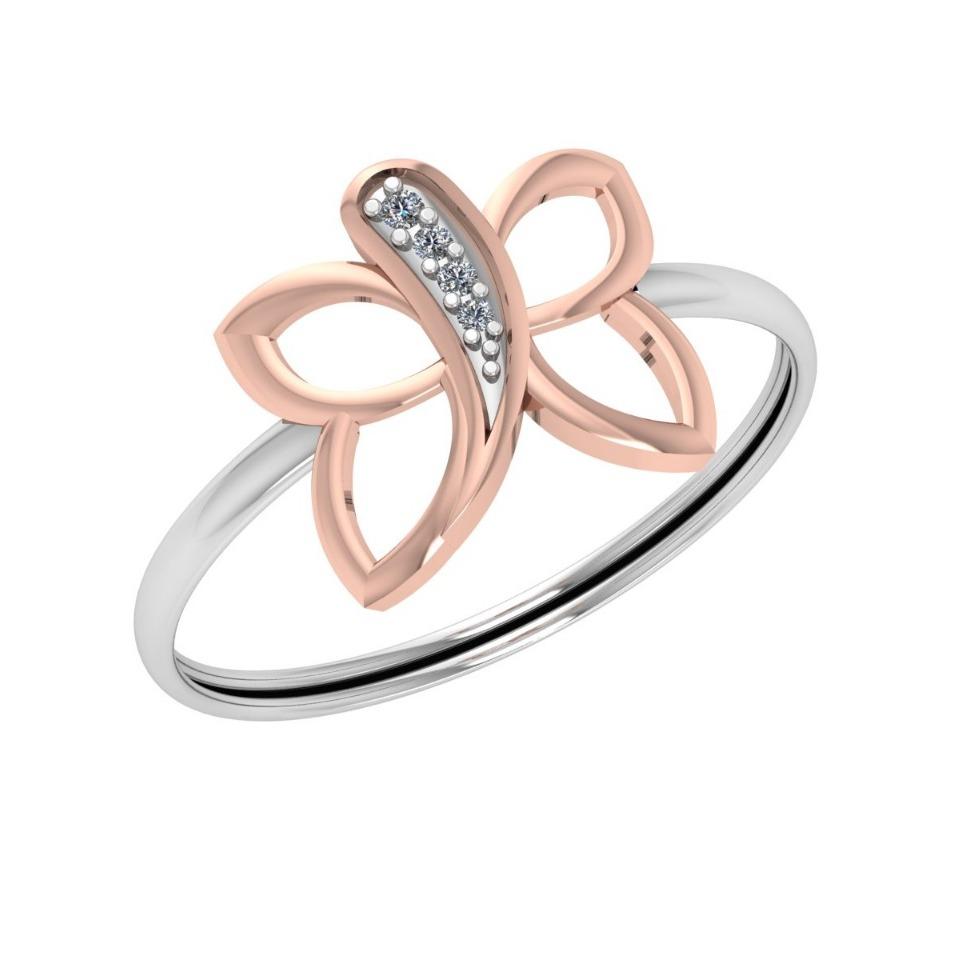 22K Gold Butterfly Design Ring For Women JJ-R06