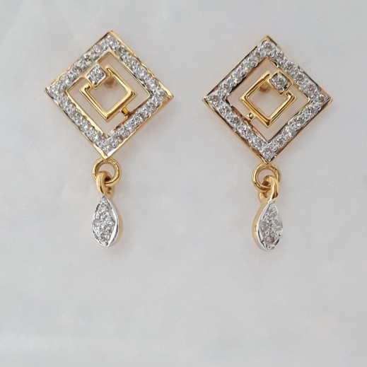 916 cz gold fancy earrings