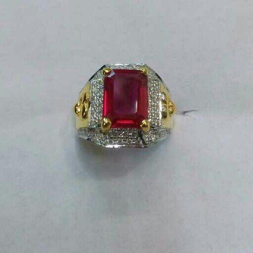 22K/916 Gold Single Stone Fancy Ring