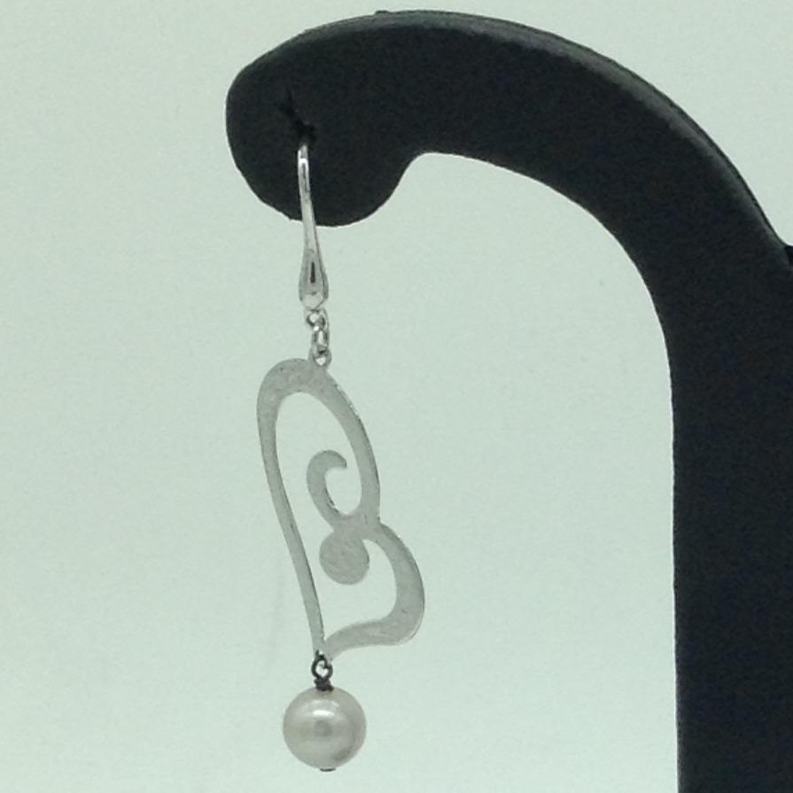 PearlSilverEar HangingsJER0131