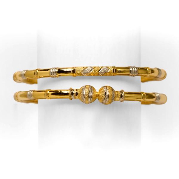 916 gold copper simple kadli
