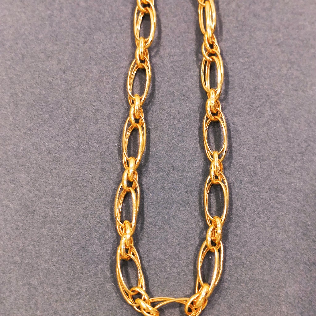 916 gold hollow chain