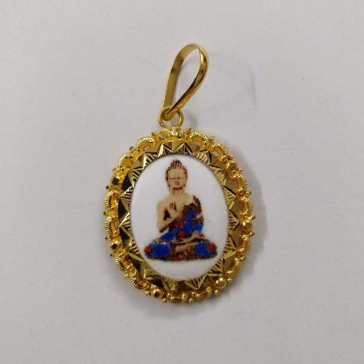 916 Gold Budh Pendant