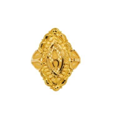 22 K light weight, yellow gold ladies ring rj-lrg-012