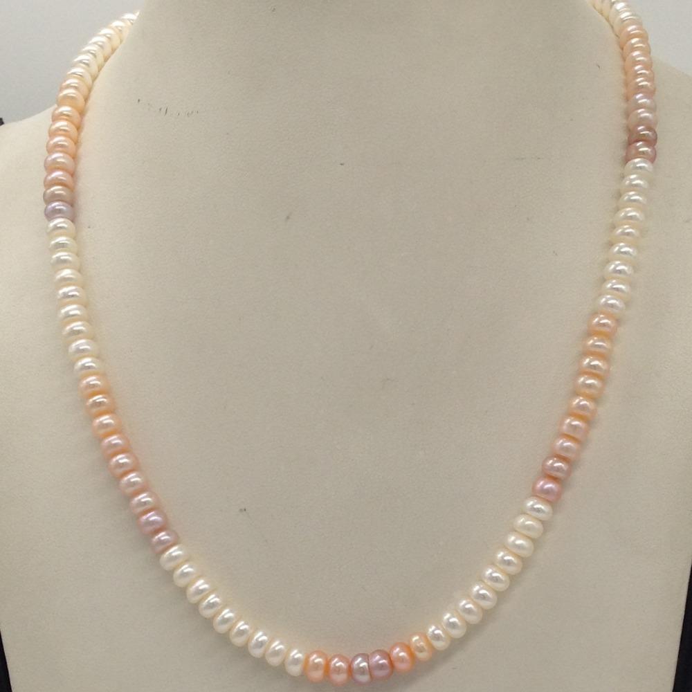 Freshwater Multicoloured Shaded Flat Pearls SingleLayer MalaJPM0320