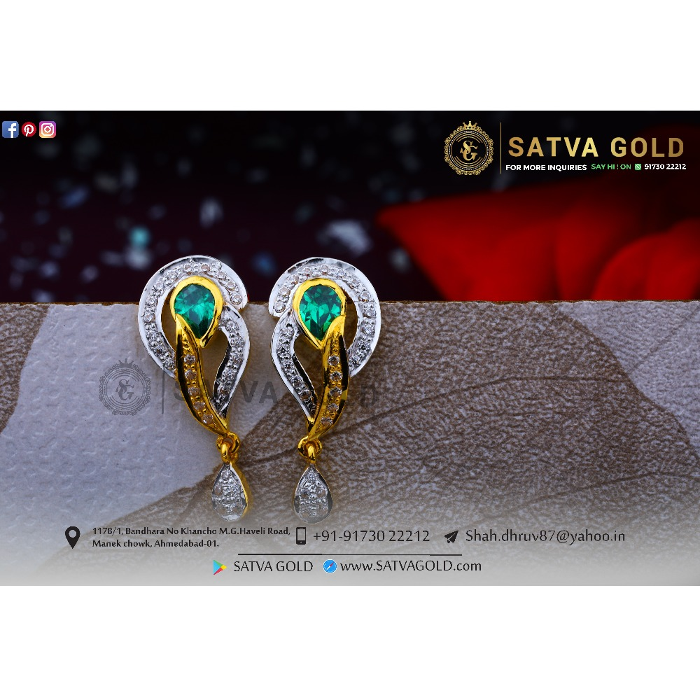 916 gold earrings sge-0040