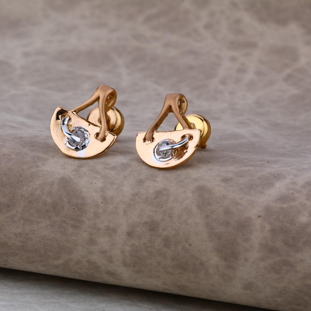 Ladies 18K Rose Gold Earring -RE36