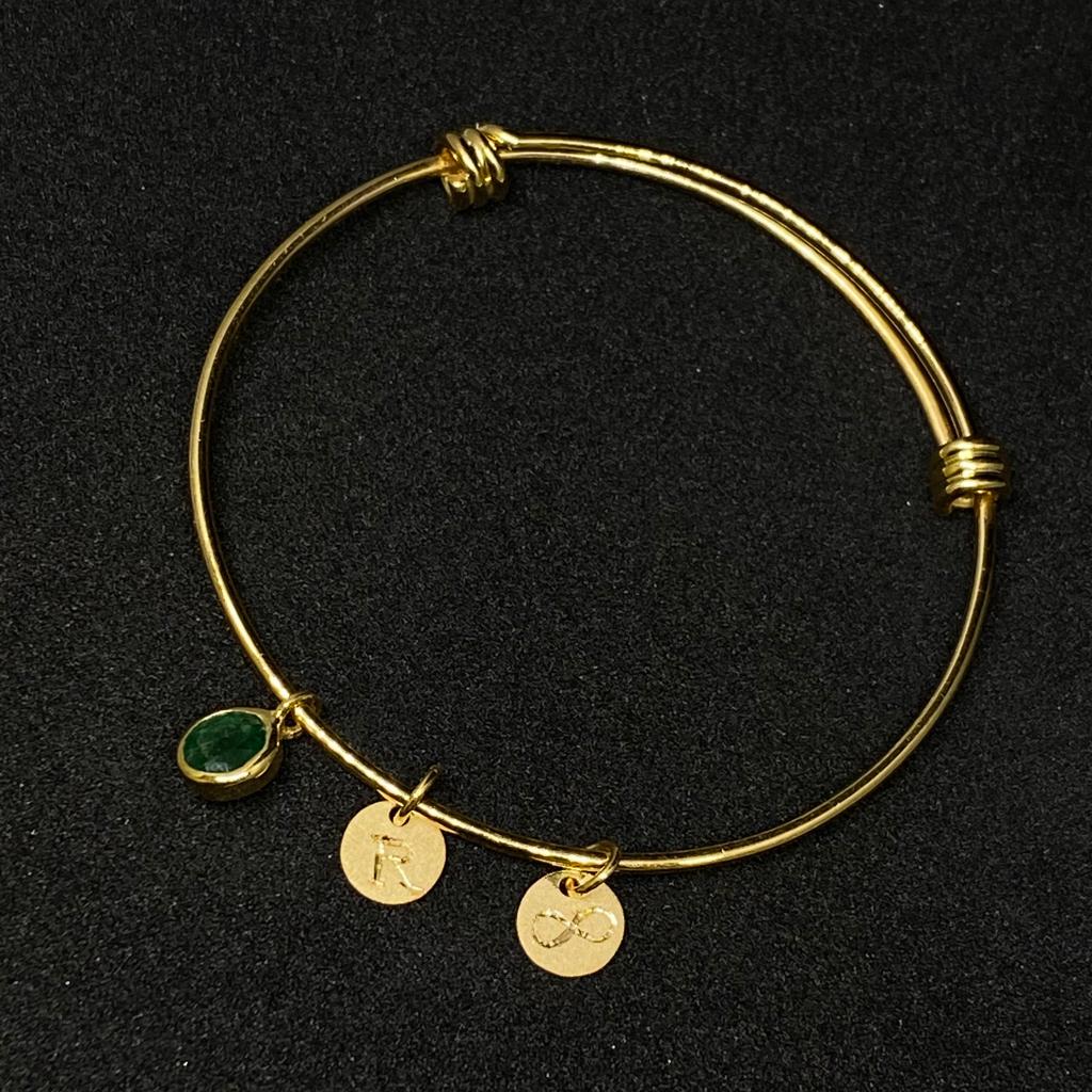 Emerald Charm Bracelet