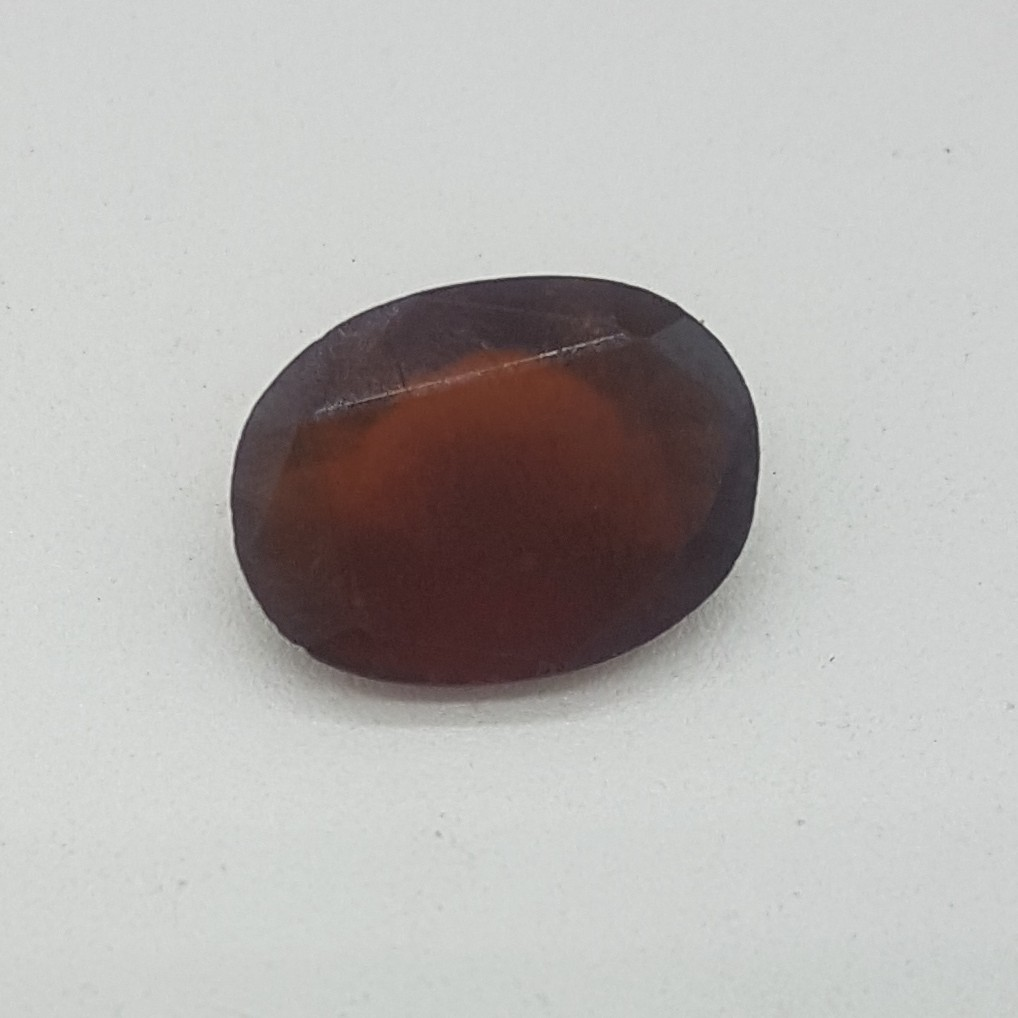 6.80ct oval brown hessonite-gomed