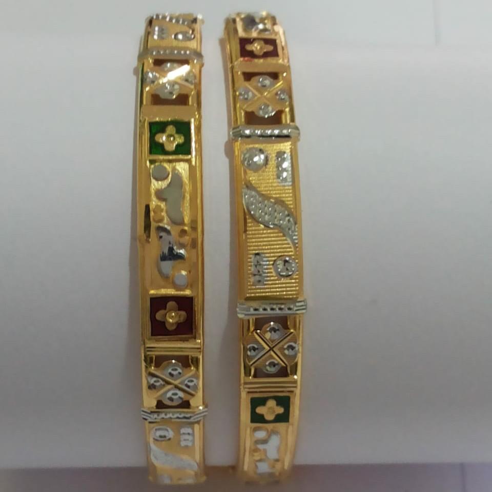 22KT Gold cz Bangle SG-76