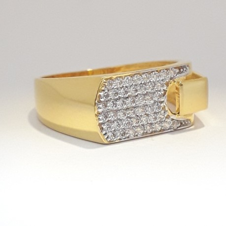 916 cz gold exclusive men's ring