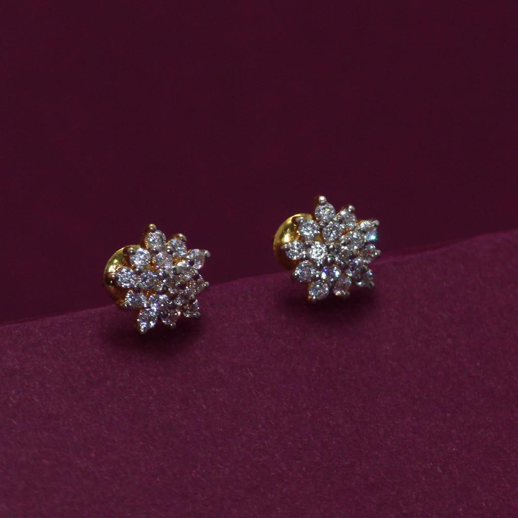 22KT Hallmarked Gemstone Earring