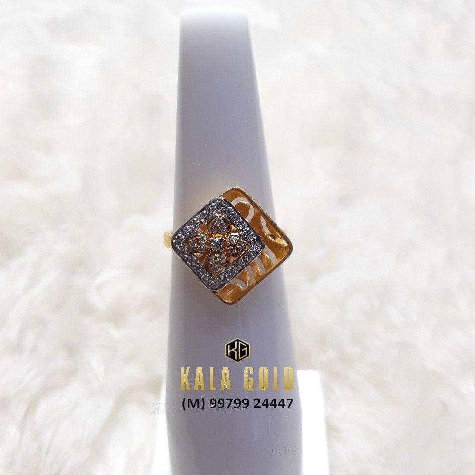 916 Double Layer Cz Ladies Ring