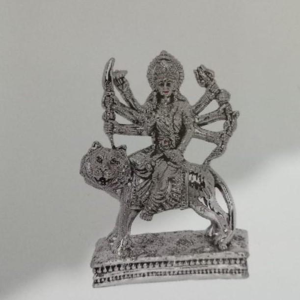 92.5 Sterling Silver Durga Idol Statue