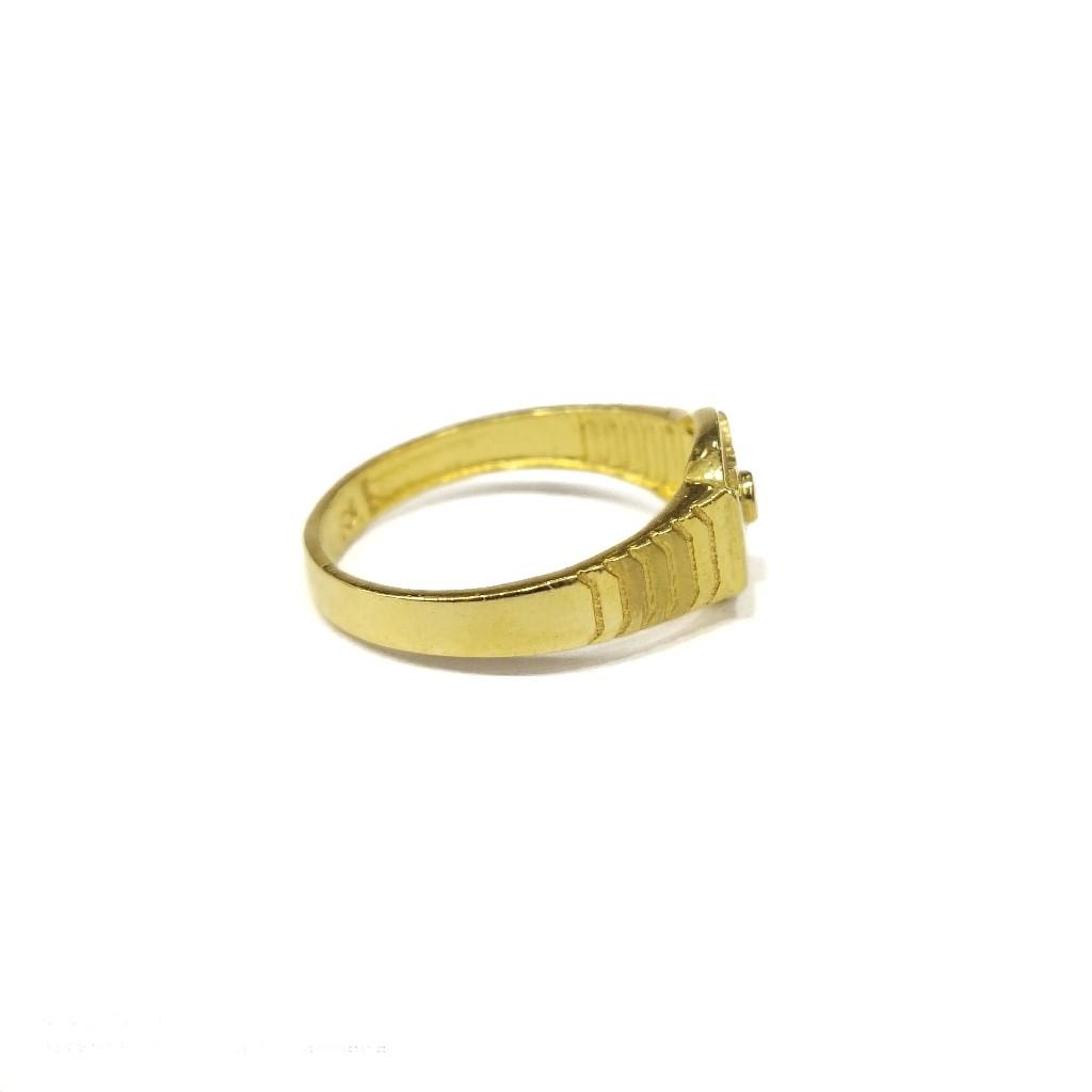 22k gold solliter gent's ring