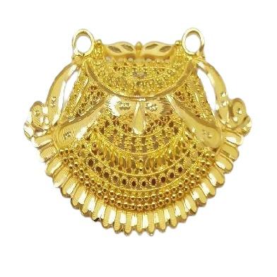 22k YELLOW Gold Double Kunda Pendent HALMARKED JEWELLERY