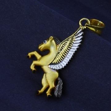 22 carat gold men's exclusive fancy unicorn pendants RH-GP573