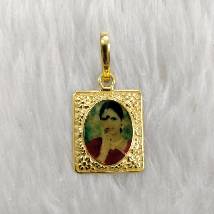 Antique Photo mina pendant