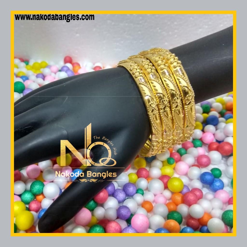 916 Gold Patra Bangles NB - 618