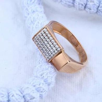 18Kt Rose gold Premium Gents Ring RH-GR52