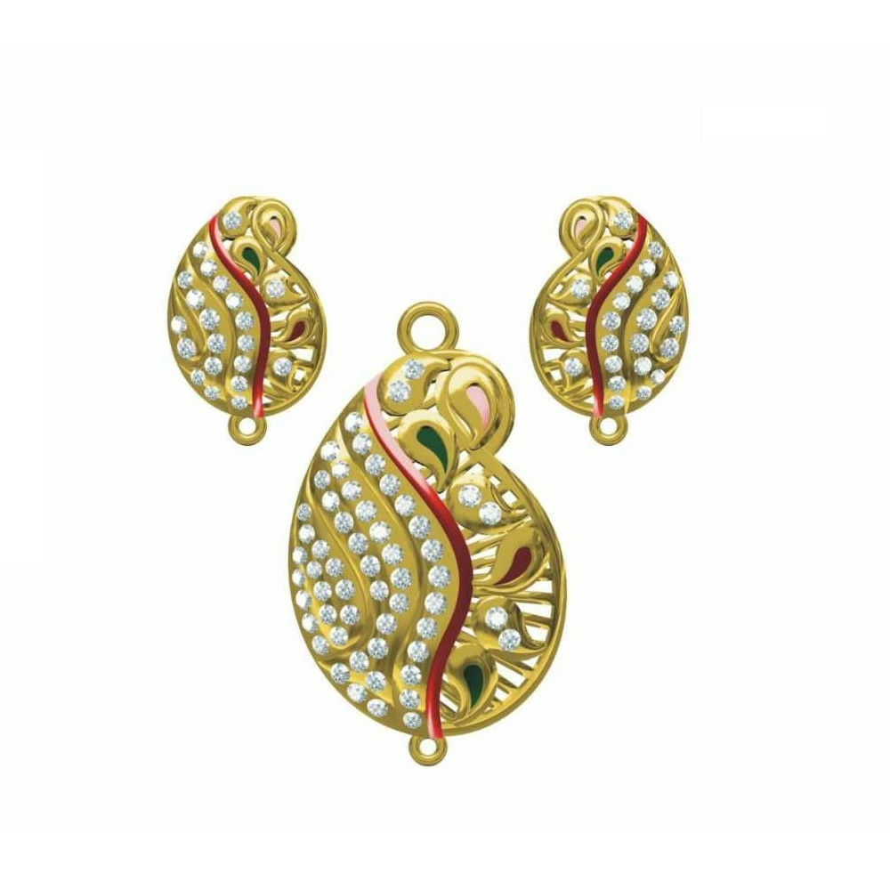 Fancy Gold Pendant Set