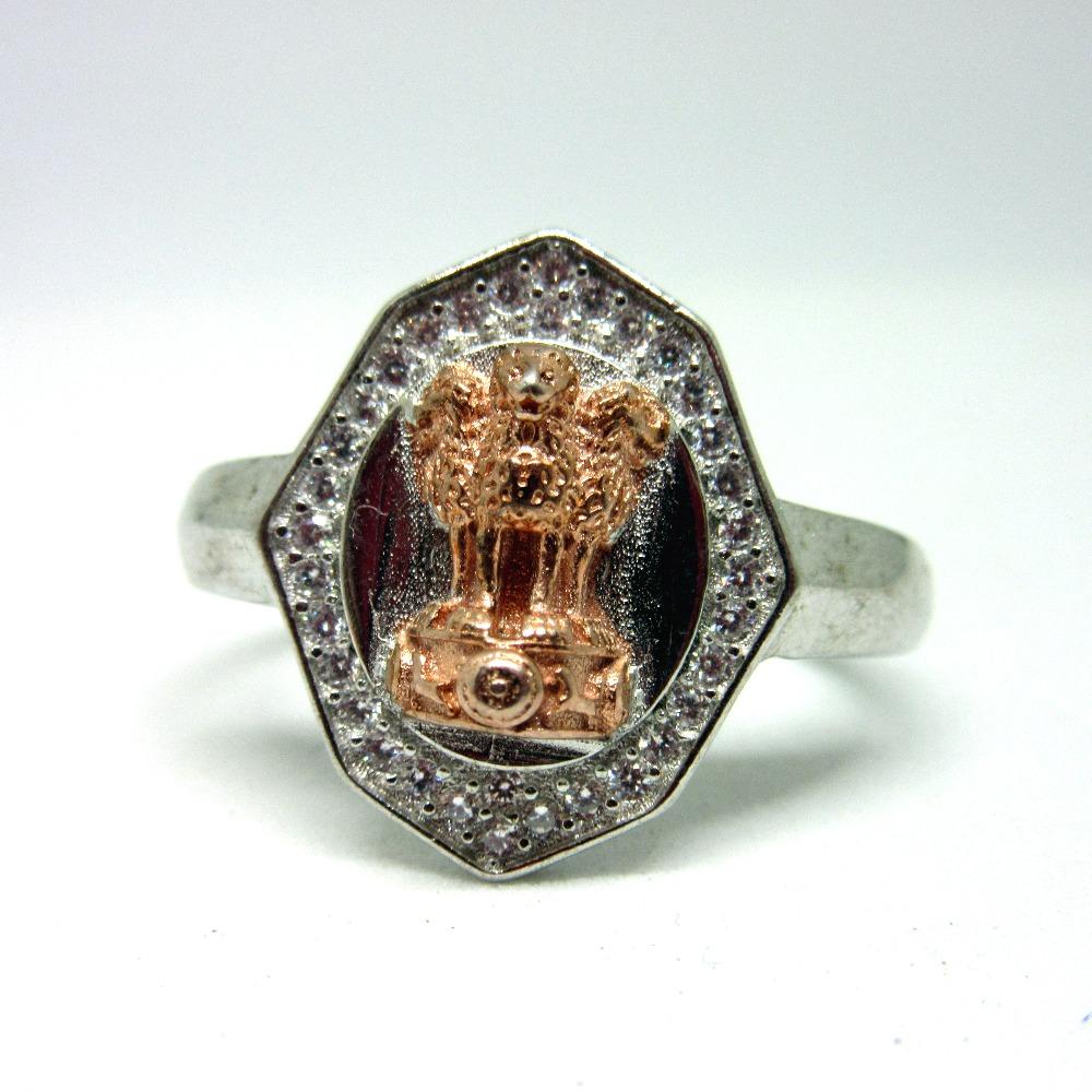 Silver 925 ashoka stambh ring sr925-176