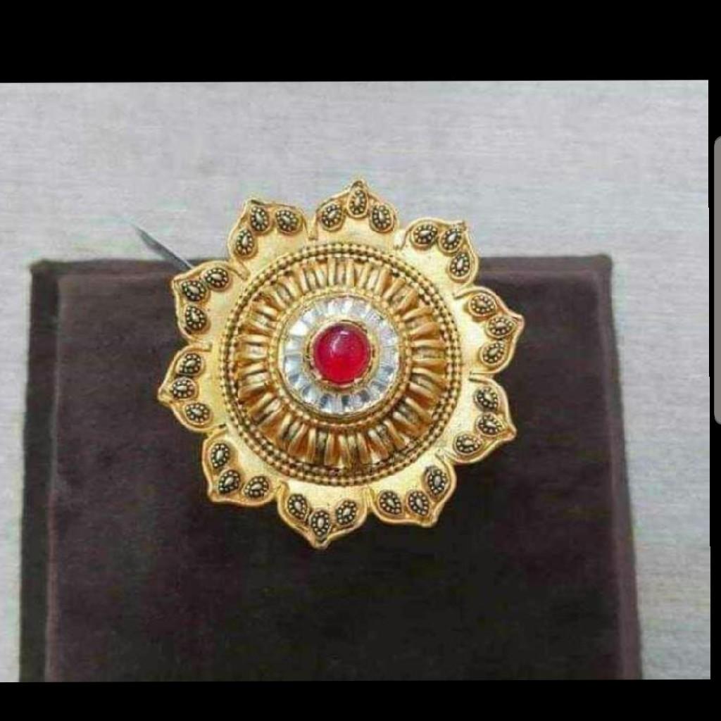 Jadau Kundan Antique Ladies Adjustable Ring