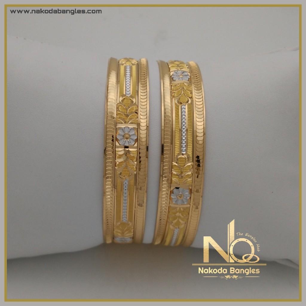 916 Gold Khilla Bangles NB-338