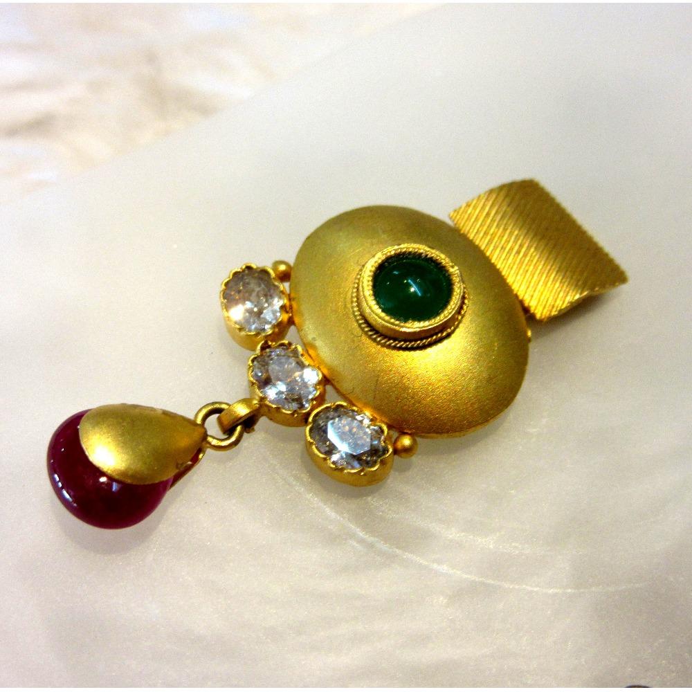 Floral designer unique gold 22k necklace set