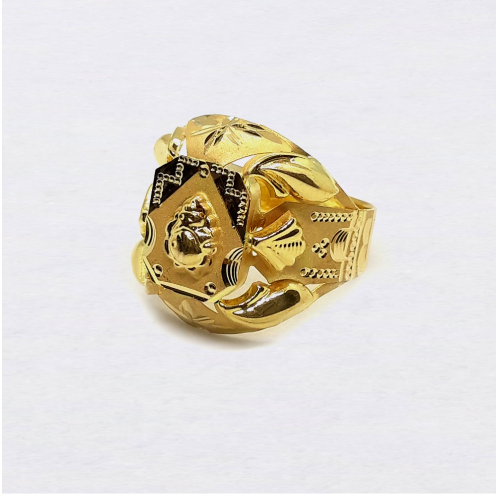 Ganesha design nazrana gold ring