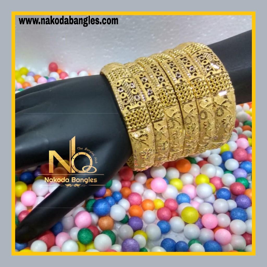 916 Gold Patra Bangles NB - 624