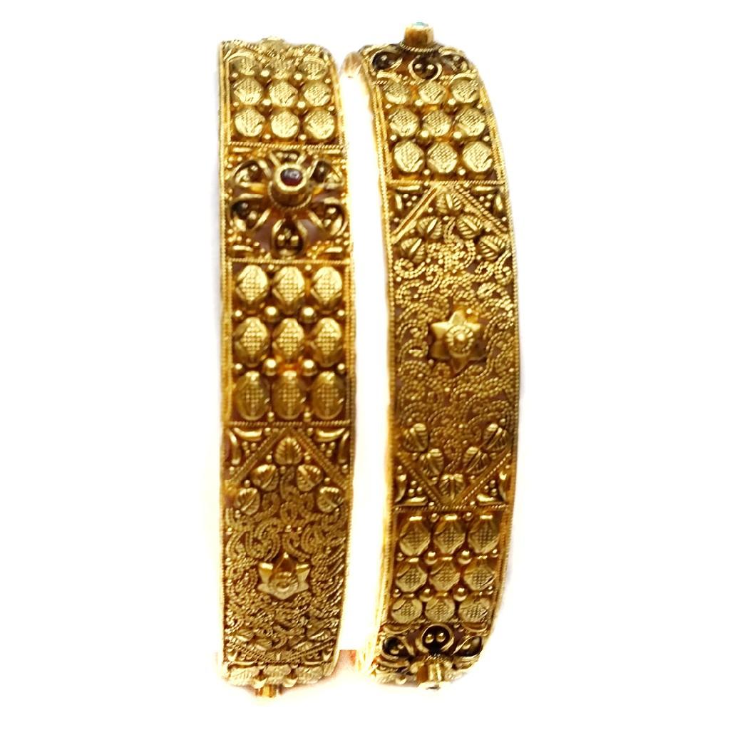 22k gold antique bangle kada mga - gp019
