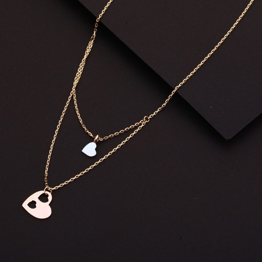 Chain with pendent fancy rosegold