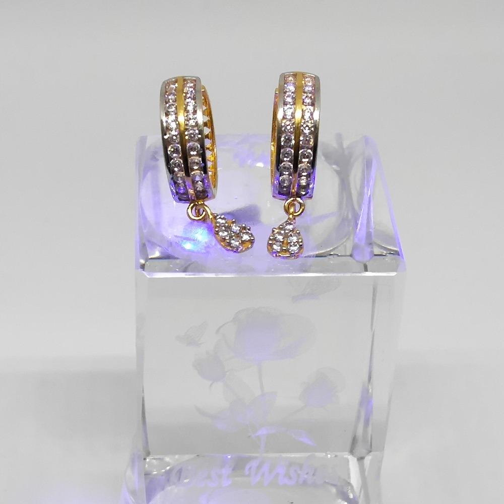 18KT gold stylish bali earring dj-e010