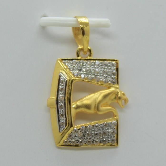 22k cz executive fancy chain pendant