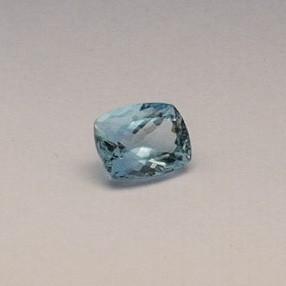 5.195ct radiant sky-blue aquamarine