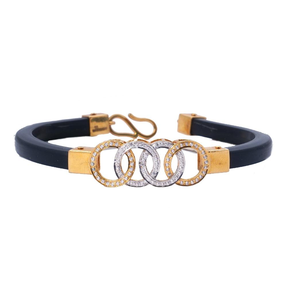 916 Gold Leather Belt Bracelet